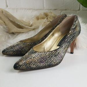 J. Renee' Couture Collection Metallic Pumps 9M